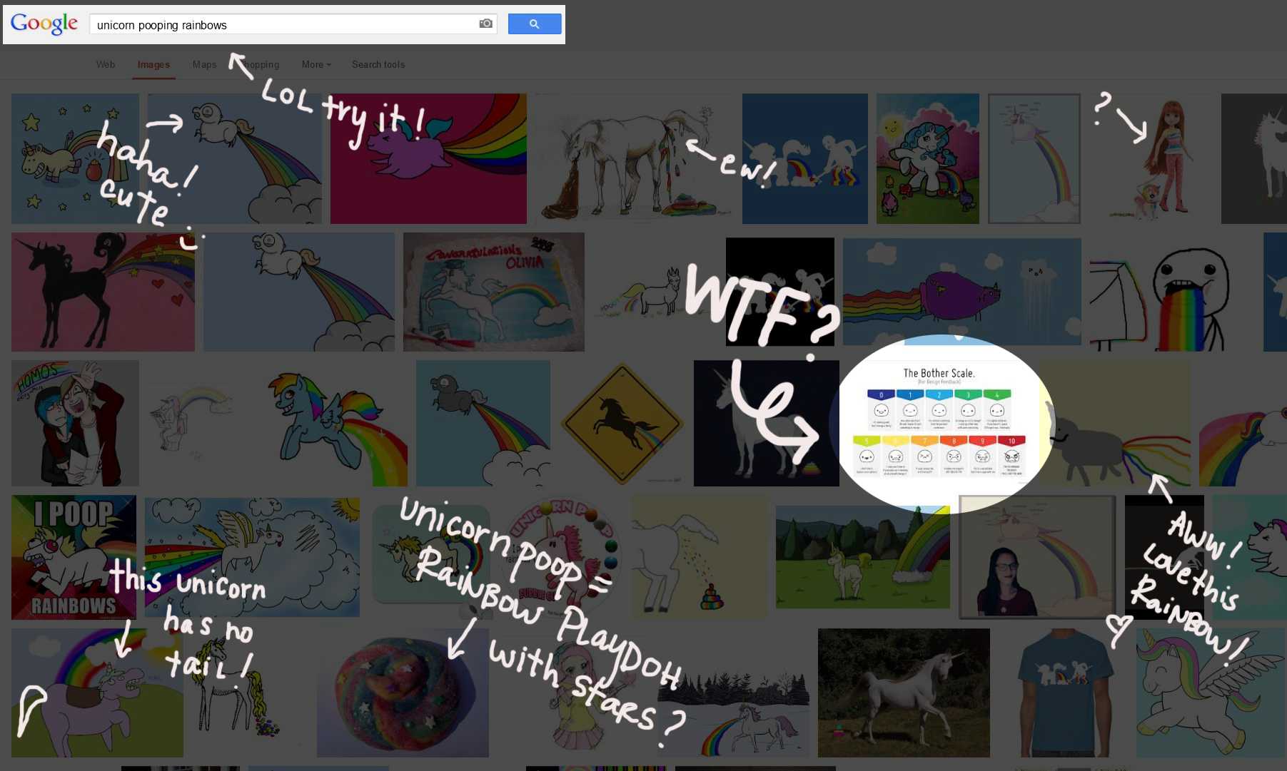 Google Image Search for Unicorn Pooping Rainbows
