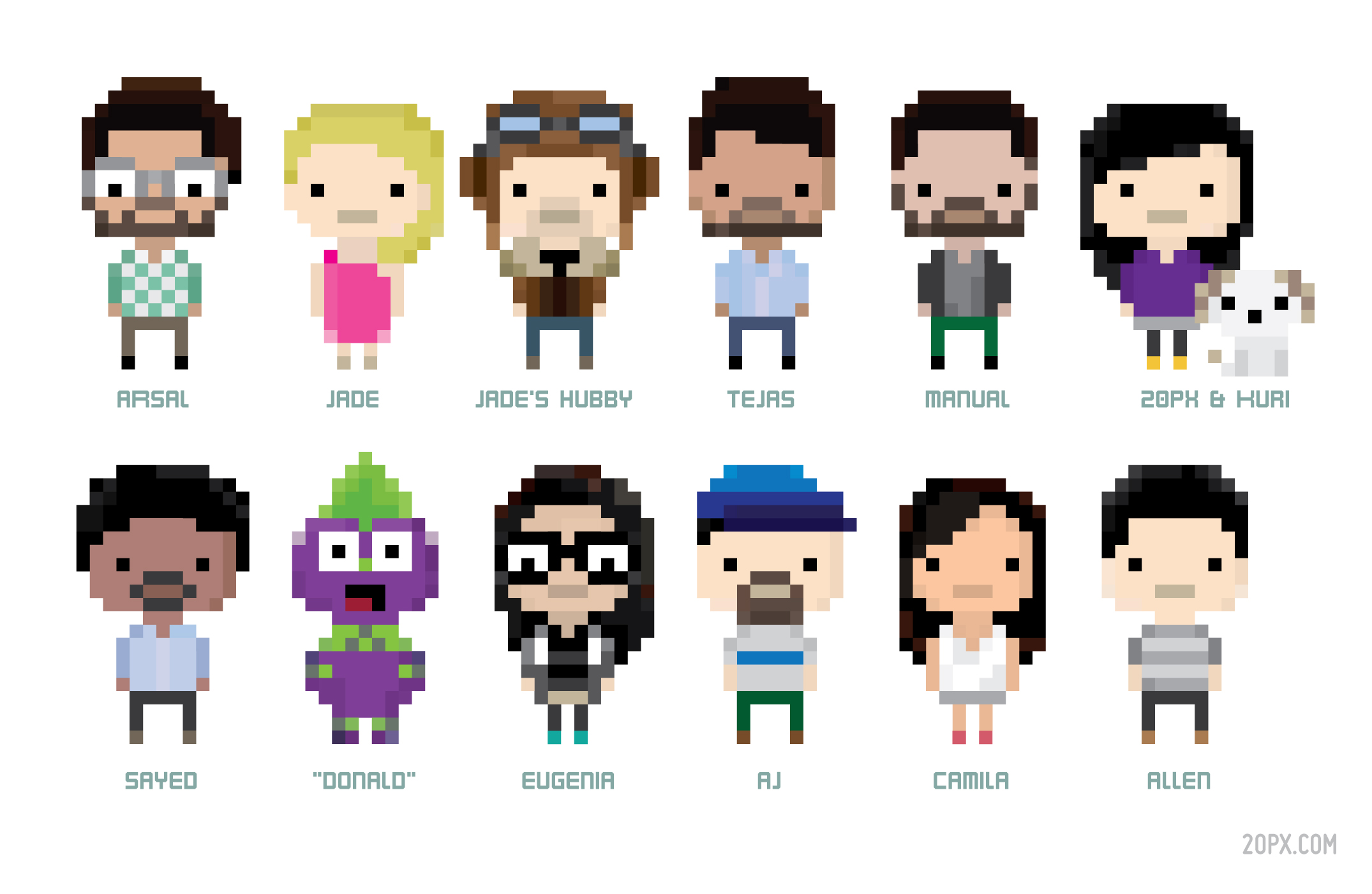 Pixel Bit People