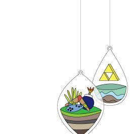 Hanging Terrarium Zelda